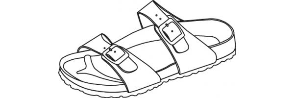 Sandalen mit Weichbettung (Softfootbed)