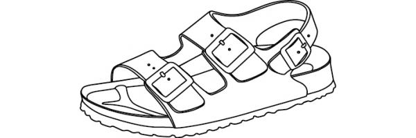 Sandalen mit Fersenriemen