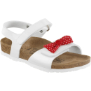 Lira White Patent Red Bow